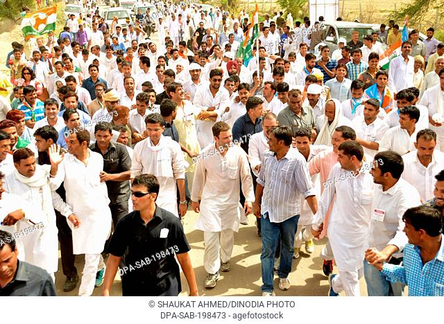 Indian national congress party politician, rahul gandhi, rajasthan, india, asia