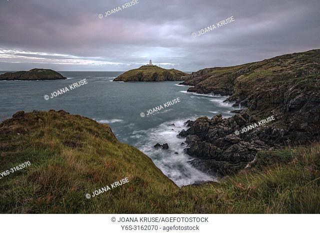 Strumble Head Lighthouse, Fishguard, Pembrokeshire, Wales, UK, Europe