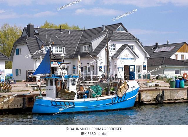Hiddensee island Mecklenburg Vorpommern Germany Vitte harbour