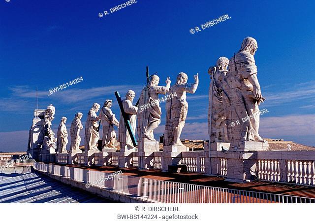 statues of saints, St. Peter's Basilica, Italy, Rome, Vatican City