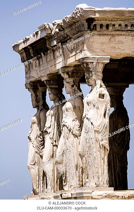 Porch of the Cariatides, Acropolis, Athens, Greece, Western Europe