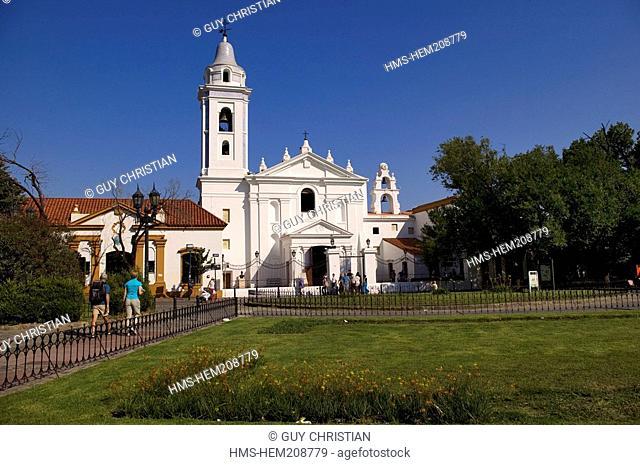 Argentina, Boenos Aires, residential district of Recoleta, Nuestra Senora del Pilar Church