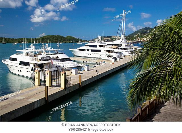 Marina in Charlotte Amalie Harbor, St Thomas, US Virgin Islands