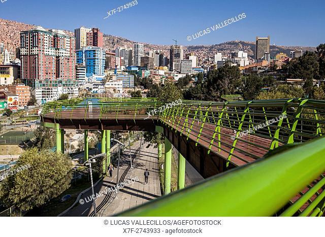 Via Balcon (via balcony), in Parque Urbano Central (central urban park), La Paz, Bolivia