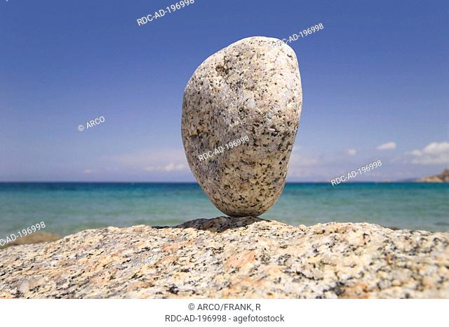 Granite rock, coast of Vignola Mare, Gallura, Sardinia, Italy