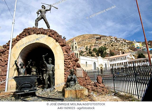 Bolivia. Oruro city. Mining memorial and the Sanctuary of the Virgin of the Socavón