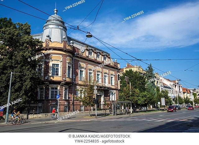 Grand historic houses on Europska avenija street, Osijek, Slavonia, Croatia