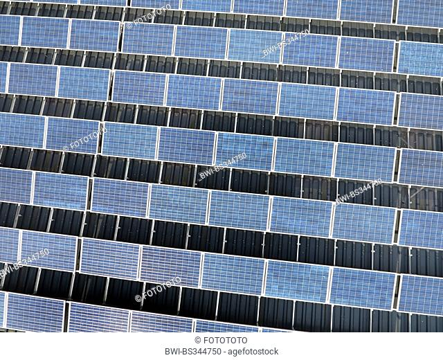 aerial view to solar roof, Germany, Hesse, Sauerland, Welleringhausen, Willingen-Upland