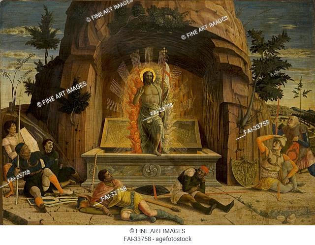 The Resurrection by Mantegna, Andrea (1431-1506)/Tempera on panel/Renaissance/ca 1459/Italy, School of Mantua/Musée des Beaux-Arts de Tours/71