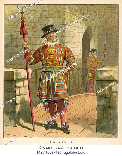 A Yeoman of the Guard on guard