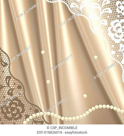 Vintage lace background ornamental flowers, invitation card