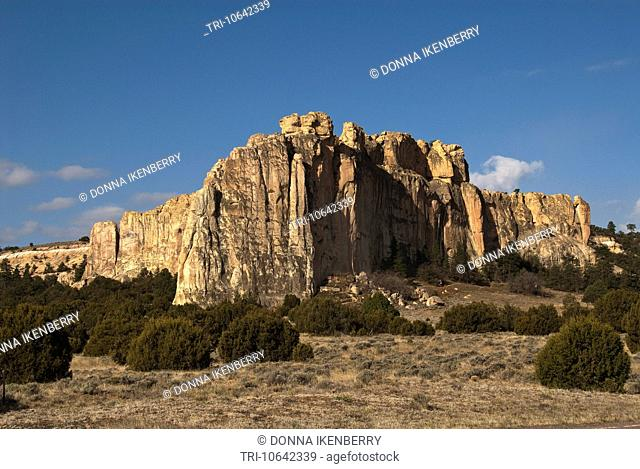 El Morro in early a.m. El Morro National Monument New Mexico USA