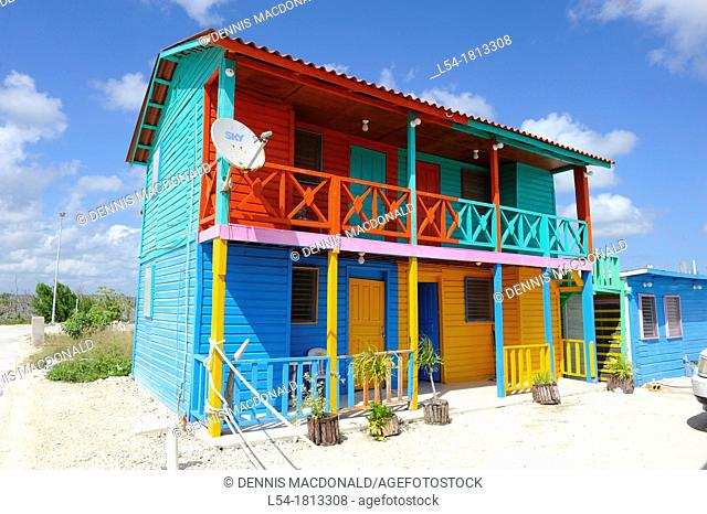 Colorful Cottages Costa Maya Mexico Beach Caribbean Cruise Ship Port