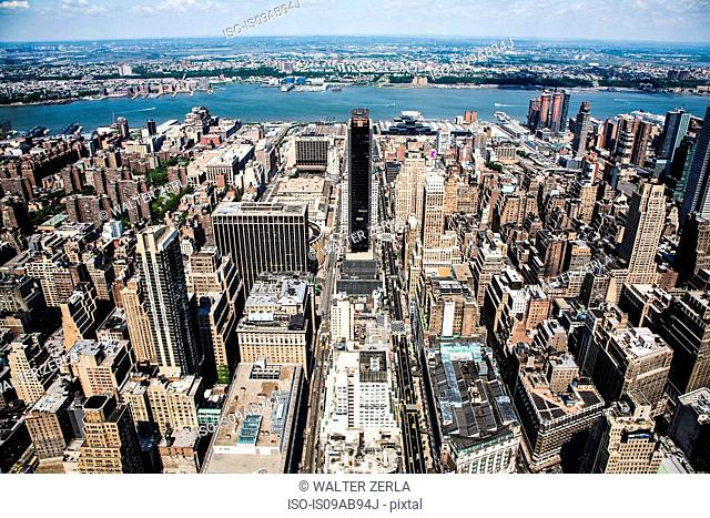 New York from above, New York State, USA