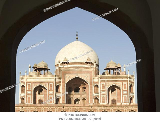 Facade of a monument, Humayun Tomb, New Delhi, India