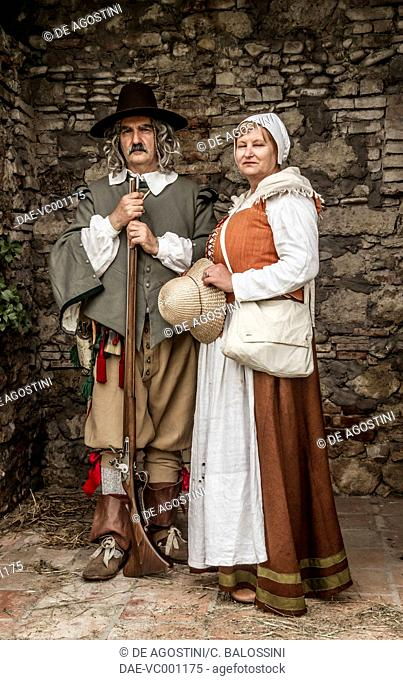 Arquebusiers with arquebuses Stock Photos and Images | age