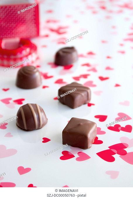Hearts and chocolates