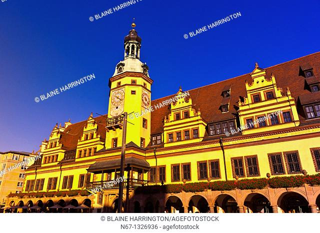 Altes Rathaus Old City Hall, Markt Market Square, Leipzig, Saxony, Germany