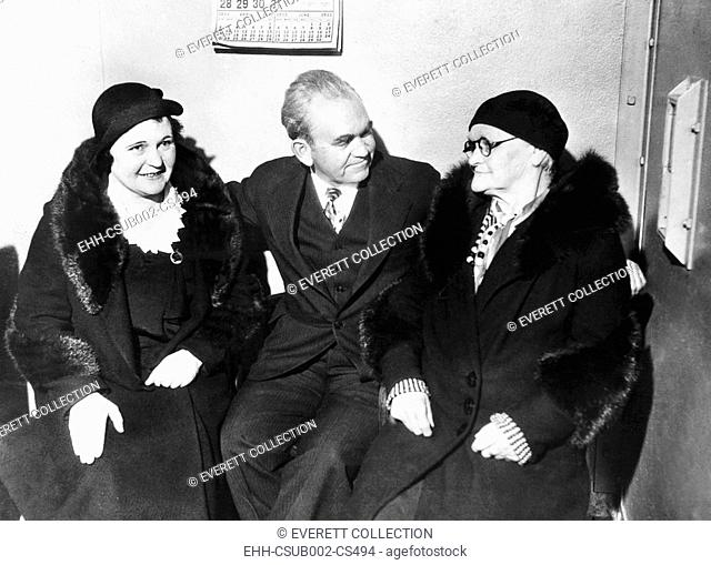 Thomas Mooney visited by Anna Mooney and Mrs. Mary Mooney, his mother and sister. May 21, 1933. They visited him in the San Francisco County Jail where he...
