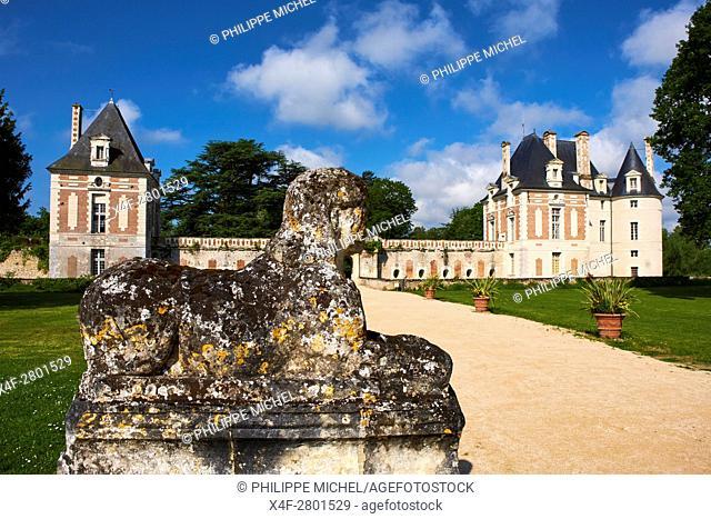 France, Loir-et-Cher, the castle of Selles-sur-Cher