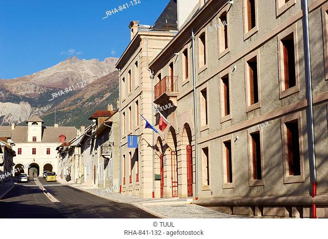 Bastioned village of Mont-Dauphin, Forte Vauban Place, UNESCO World Heritage Site, Parc Naturel Regional du Queyras Regional Park of Queyras, Hautes-Alpes