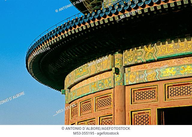 Hall of prayer for good harvest, Temple of Heaven. Beijing. China