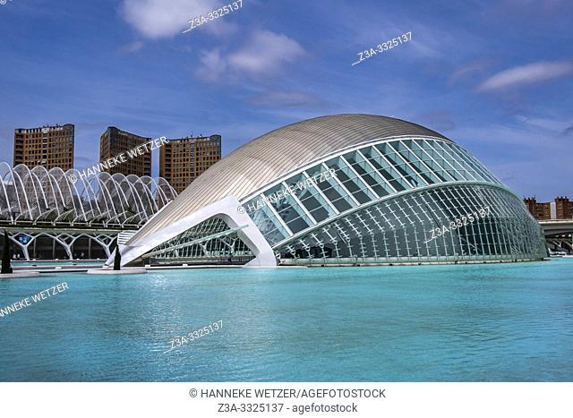 Planetarium, Ciudad de las artes y las ciencias, City of Arts and Science, Valencia, Spain, Europe