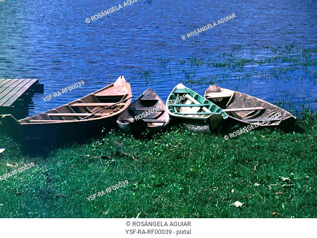 Boat, sea, nature, Belém, Pará, Brazil