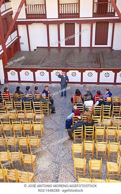 Corral de Comedias (16th century), the only active courtyard theatre in Spain, Almagro, Ciudad Real province, Castilla-La Mancha, Spain