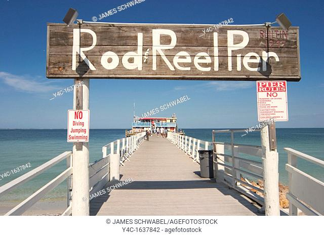Rod and Reel Pier on Tampa Bay in Anna Maria on Anna Maria Island, Florida