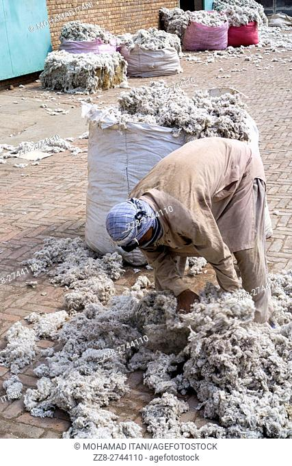 Cotton mill worker Multan Pakistan