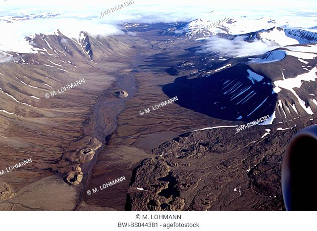 valley shaped by glacier, Norway, Svalbard, Adventdalen