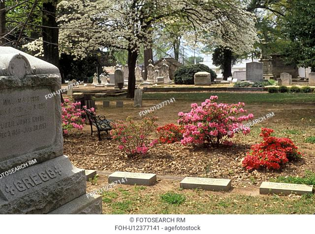 Margaret Mitchell, Atlanta, Georgia, Margaret Mitchell's (author of the novel Gone with the Wind) gravesite at Oakland Cemetery in the spring in Atlanta the...