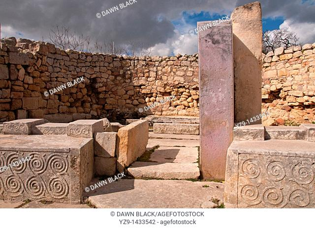 South Temple of the Tarxien neolithic temple complex, Malta