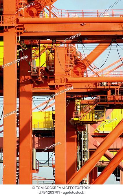 cranes in Port Melbourne, Melbourne, Australia