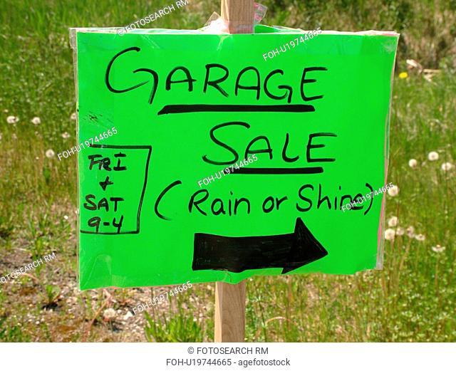 sign, Garage Sale
