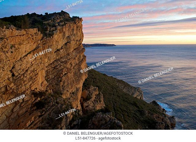General view of the northern Alicante coastline, Spain