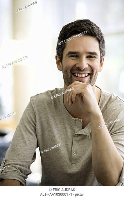 Man laughing, portrait