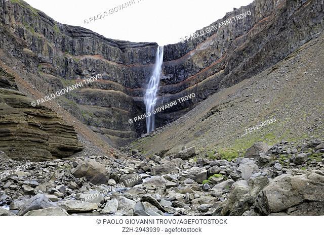 Hengifoss waterfall, Iceland, Europe