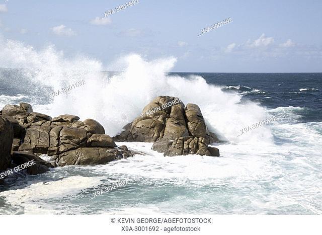 Rock at Barca Point, Muxia; Fisterra; Costa de la Muerte; Galicia; Spain