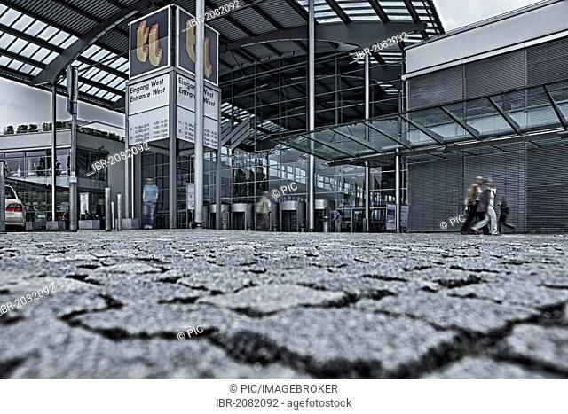 Entrance to Munich trade fair, West, Bavaria, Germany, Europe