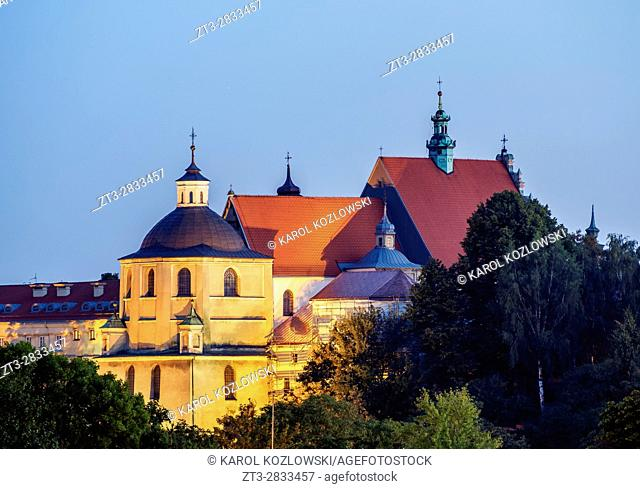 Poland, Lublin Voivodeship, City of Lublin, Old Town, Dominican Priory at twilight