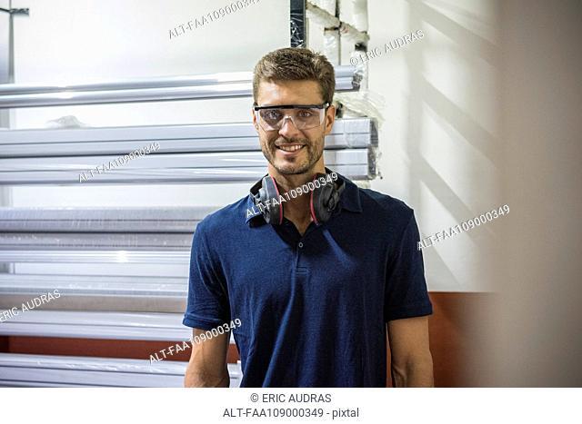 Factory worker, portrait