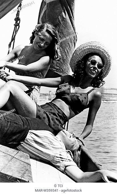 holiday in viareggio, tuscany, italy 1940-50