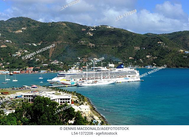 Norwegian Cruise Line Dawn Ship Road Town Tortola BVI Caribbean Wickhams Cay
