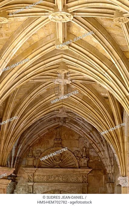 France, Dordogne, Le Buisson de Cadouin Cadouin Abbey, the Gothic cloister flamboyant