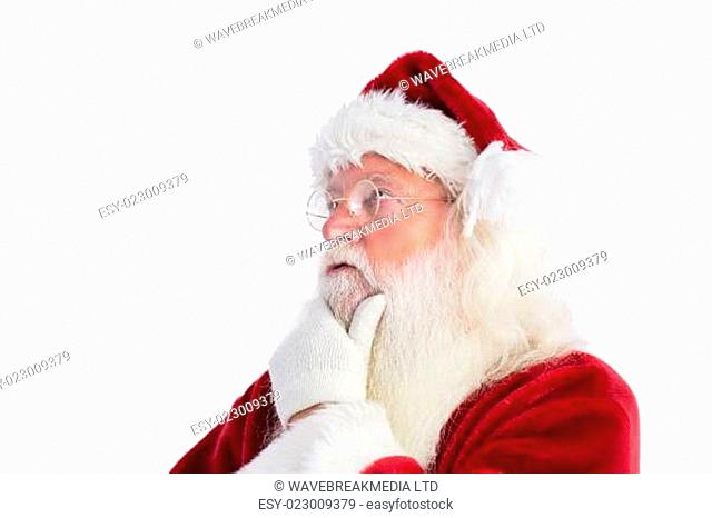 Santa is thinking about something
