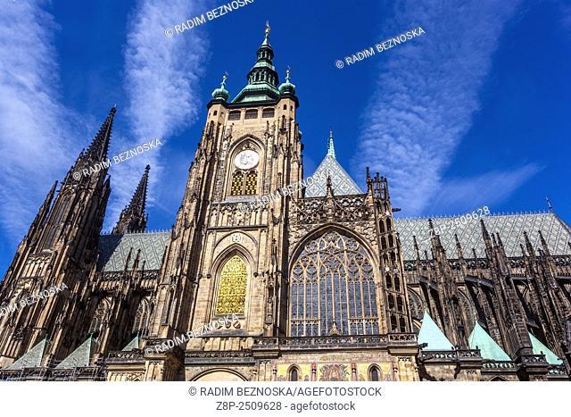 Prague Castle, view from the Third Courtyard, UNESCO, Czech Republic, Europe