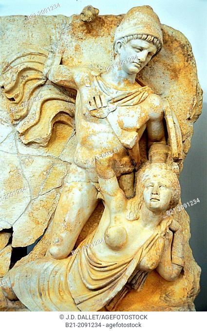 Turkey, Aphrodisias, museum, Sebasteion reliefs