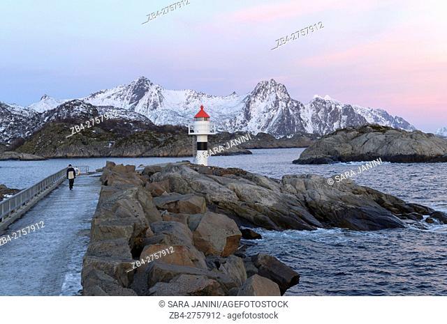 Kabelvåg, Lofoten Islands, Nordland County, Norway, Europe